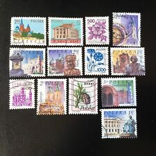 Lot de 13 timbres de Pologne années Diverses - Briefmarken D1