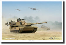 M1A2 Abrams by Mark Karvon - Military Art - Tanks - Decor - A-10 Warthog -