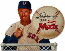 TED WILLIAMS MLB BASEBALL MOXIE COLA HEAVY DUTY USA MADE METAL ADVERTISING SIGN