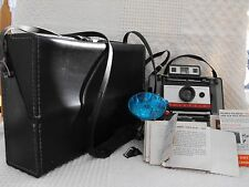 VINTAGE POLAROID 220 FLASH CAMERA, HARD CASE & ACCESSORIES