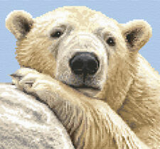 POLAR BEAR ~ Complete counted cross stitch kit + all materials