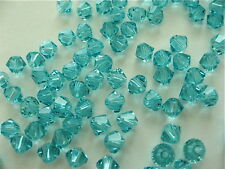 48 Light Turquoise Swarovski Crystal Beads Bicone 5328 4mm