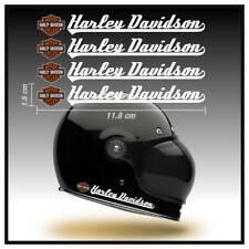 Pegatinas moto casco Harley Davidson stickers depósito tanque vinilo decal blanc