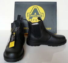 Safety Boots, Mens Safety Dealer Boots Amblers Black, FS116, Work SIZE UK 9 - 13