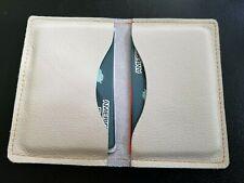 Genuine white Leather Credit Card Holder/Wallet