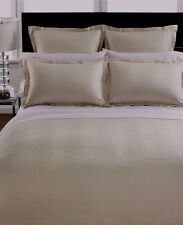 Hotel Collection 700 TC Stripe Queen Duvet & Shams Champagne $430 New Unopened