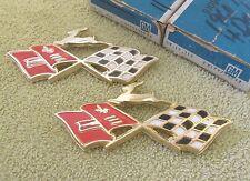 * NOS 1960 Chevy Impala Gold Rear Quarter Cross Flag Emblem GM 3774633