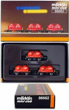 Marklin Z Scale 86662  Red Powdered Freight Car Set Orig Box  C10