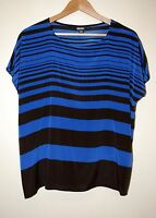 DKNY Silk Blue & Black Blouse size S