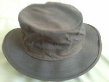 Brown Oilcloth Filson Style Hat, Small, NEW, Langenberg Hat Co., Made in USA
