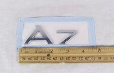 AUDI A7 TRUNK EMBLEM 12-17 BACK NEW GENUINE OEM CHROME BADGE sign logo symbol