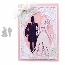 Bride Groom Wedding Metal Cutting Dies Scrapbooking Cards Making Craft Stencils