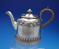 Grecian by Gorham Sterling Silver Individual Tea Pot Wicker Handle #2985 (#4519)