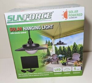 Sunforce Solar Hanging Remote Control Pendant LED Light Patio Gazebo 81091