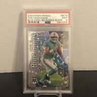 2020 Panini Mosaic Tua Tagovailoa Blue Chips Disco No Huddle RC Prizm PSA 9