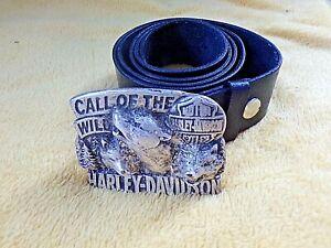 Ceinture en cuir neuve avec boucle Harley-Davidson-Call of the Wild