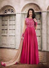 Indian Stylish Designer Bollywood Party Pink Gown Anarkali Salwar Suit Dress