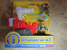 Fisher Price Imaginext Rescue Heroes Fire City Flame Buster tank Dern Daring NEW