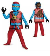 Girls LEGO® Deluxe Halloween Costume Ninjago Blue Ninja Warrior Nya Large