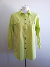 The Ark size S avocado cotton long sleeve shirt with collared neck