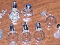 100pc Lot cognac Glass tiny diy bottles vials charms pendant tiny bulk wholesale