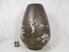 Beautiful 50´s Design Marzi & Remy cerámica jarrón 2012/40 handpainted 2 Girls