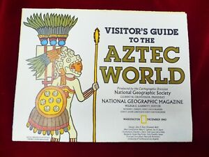 National Geographic Aztec World Map/Insert December 1980 Issue