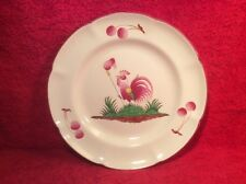 Superb Vintage Saint Clement Faience Rooster w Bonnet of Freedom Plate c1963