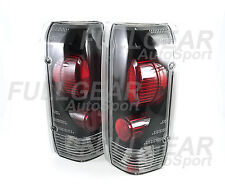 BLACK w/ CLEAR LENS ALTEZZA TAIL LIGHT FOR FORD F-150 1990-1996 BRONCO 1992-1996