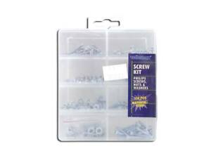 330 PCS M4/M3/M2 ASSORTED BOLTS NUTS AND WASHERS KIT SET GALVANIZED STEEL