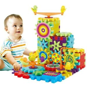 3D Puzzle Building Plastic Toys Electric Gears Educational Kits For Kids