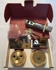 Medeco Maxum High Security Deadbolt Double Cylinder Brass Good