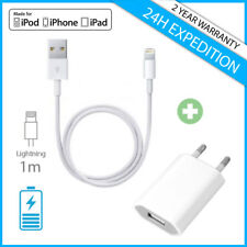 2in1 Set A+ Wall Mural Chargeur Charger + Data Cable iPhone 5 6 7 8 X iPad iPod