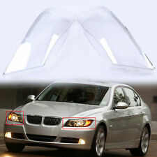 2x Front Headlight Headlamp Clear Lens Lenses Shell Cover For BMW E90/E91 04-08