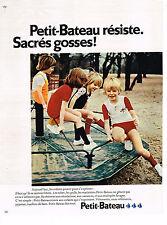 PUBLICITE ADVERTISING 084  1972  PETIT-BATEAU   vetements enfants