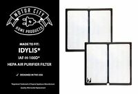 2 Filters For Idylis D HEPA Air Purifier Fits IAP-10-280 Model # IAF-H-100D