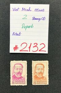 VIET MINH stamps, 2 Mint Stamps, SCV 2009=$2.75, #2132 or #2133