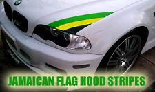 JAMAICAN FLAG 3 COLOUR RASTA BMW bonnet stripe vinyl any CAR BIKE VW AUDI HONDA