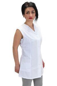 CASACCA camice donna lavoro Bianco Smanicato Alimentari Panetteria  Estetista