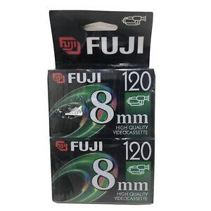 2 PACK FujiFilm 120 Min 8mm Video Camcorder Tape P6-120 Video Cassette NEW
