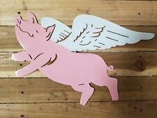 FLYING PIG -Hand Made in Waco Texas. CNC Plasma Wall Art Decor
