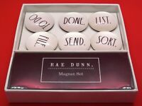 NEW!!! Rae Dunn 6 Magnet Set To Do, Done, List, File, Send, Sort -Glass Dome  FS