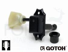 Gotoh SD90-SL 3L +3R Gibson Kluson Style Guitar Machine Heads, Black Vintage