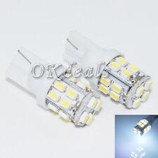 2X White T10 W5W 194 168 501 Car 20 SMD 12V LED Inverted Side Wedge Bulbs