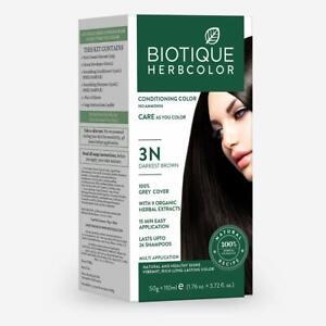 Biotique Bio Herbcolor 3N Darkest Brown, 50 g + 110 ml (Conditioning Color No Am