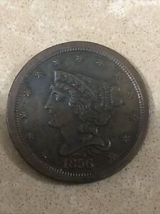1856 Half Cent AU / BU GEM