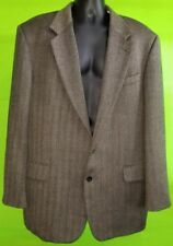 Oscar De La Renta Mens Wool Sport Coat Jacket Blazer Gray Black Design - sz 46L