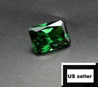 Unheated Dazzling 9.08ct Green Sapphire 10X14MM Diamond Emerald Loose Gemstone