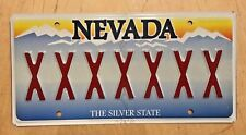 "NEVADA Vanity License Plate "" XXXXXXX "" REPEATING LETTER X  RATED XX   7 X'S"