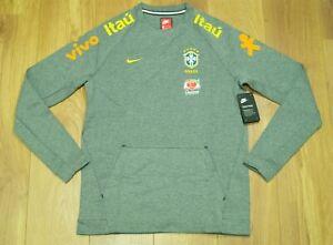 Brazil 2018 Grey Player issue Training / Travel sweatshirt size L